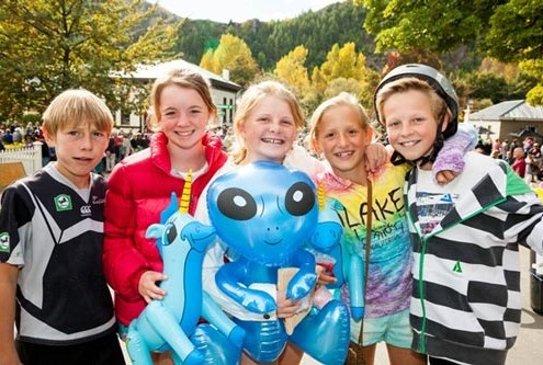 Happy Kids at the Arrowtown Autumn festival